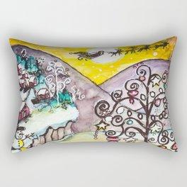 Ice Lake Christmas Rectangular Pillow