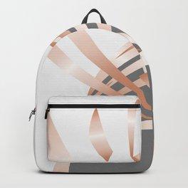 Rosegold Gray Abstract Art Backpack