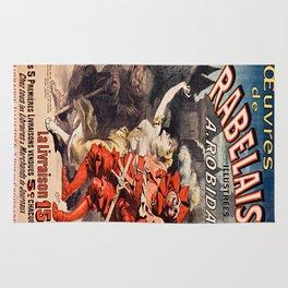 Vintage poster - Oeuvres de Rabelais Rug