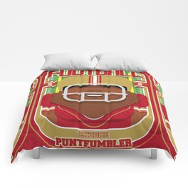 American Football Red and Gold - Enzone Puntfumbler - Hayes version Comforters