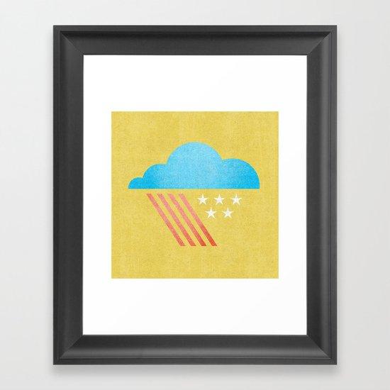 Patriotic Weather. Framed Art Print