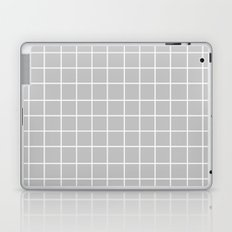 Grid (White/Silver) Laptop & iPad Skin