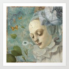 Blue Whisers Art Print
