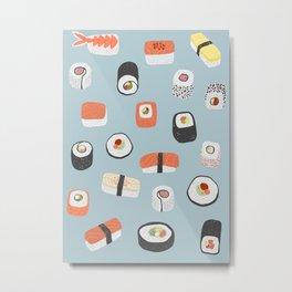 Sushi Roll Maki Nigiri Japanese Food Art Metal Print