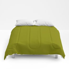 Olive - solid color Comforters