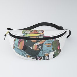 Chilling Hipster Girl Fanny Pack