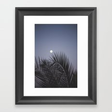 Moonrise over Los Angeles Framed Art Print