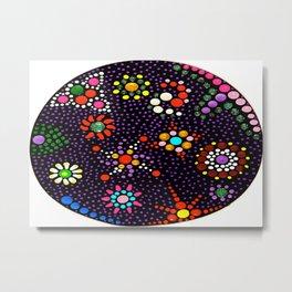 Planet Mandala Metal Print