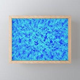 Blue Fire Framed Mini Art Print