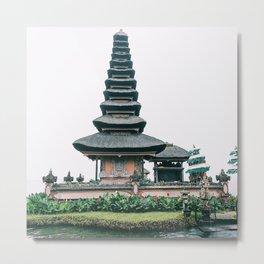 Bali Ulun Danu Temple Metal Print
