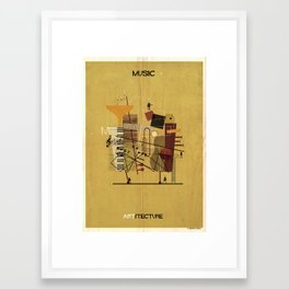 01_Music_ARTitecture Framed Art Print