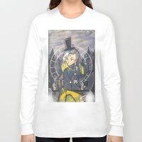 bill cipher Long Sleeve T-shirts featuring Human Bill Cipher by Kurodoj