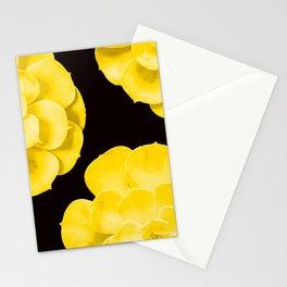 Large Yellow Succulent On Black Background #decor #society6 #buyart Stationery Cards
