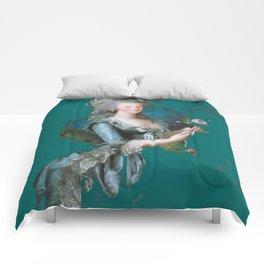 marie Antoinette teal Comforters