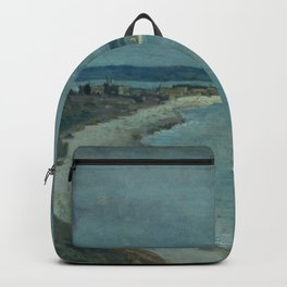 Jean-Baptiste-Camille Corot - Le Havre. La mer vue du haut des falaises Backpack