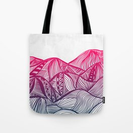 Lines in the mountains 05 Tote Bag