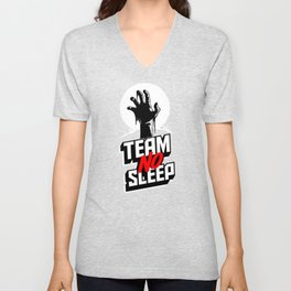 Insomniac Team No Sleep Zombie Hand Unisex V-Neck