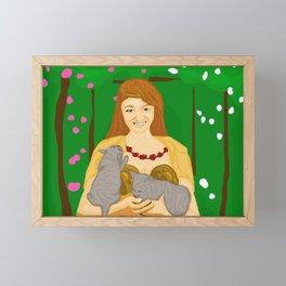 Freya Norse Goddess (w/o name) Framed Mini Art Print