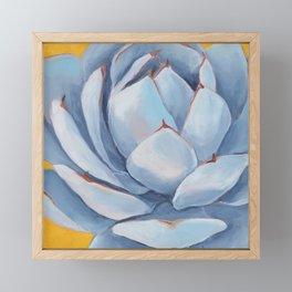Blue Succulent Framed Mini Art Print