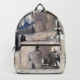 George Hendrik Breitner - Cityscape In The Hague - Digital Remastered Edition Backpack