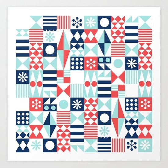 Tradewinds navy Art Print