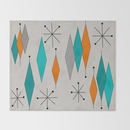 Mid-Century Modern Diamond Pattern Throw Blanket
