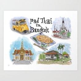 Pad Thai in Bangkok Art Print