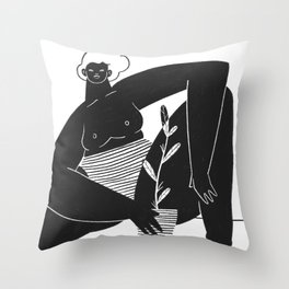 Sit Like a Lady Throw Pillow