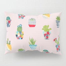Funny cacti illustration Pillow Sham