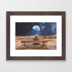 PLANET EARTH, THE UNIVERSE AND I Framed Art Print