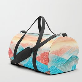 Lines in the mountains XX Duffle Bag