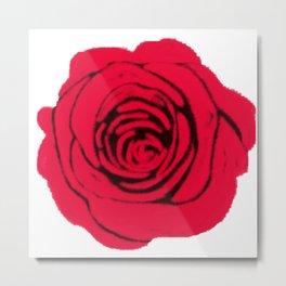 Digital Rose Metal Print