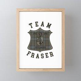 TEAM FRASER TARTAN Framed Mini Art Print