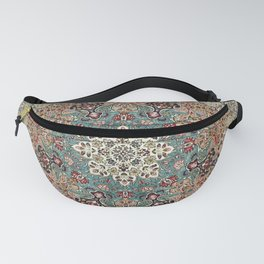 Antique Red Blue Black Persian Carpet Fanny Pack