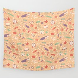 Read books pattern Wall Tapestry