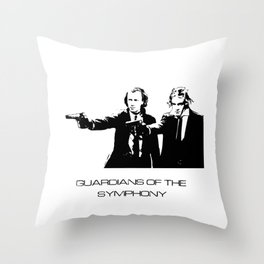 Brahms & Beethoven Guardians of the Symphony Throw Pillow