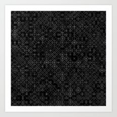 Black and White Overlap 1 Art Print