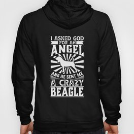 Dog Shirt Asked God for Angel He sent Me A Crazy beagle Hoody