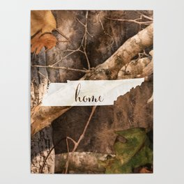 Tennessee is Home - Camo Poster