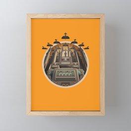 Robots Unite! crest variant Framed Mini Art Print