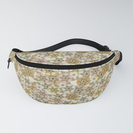 Scattered Honesty Flowers on Green and Cream Fanny Pack