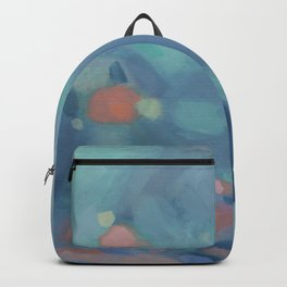 Abstract Tropical Blue Landscape, Wading  Backpack