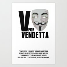 V For Vendetta Movie Poster Alan Moore Graphic Novel Art Print