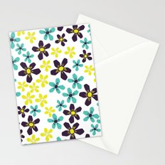 Yellow and Blue Flower Stationery Cards