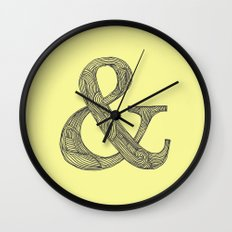 Yellow Ampersand Wall Clock