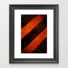 LAST WARNING! Framed Art Print