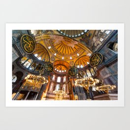 Beautiful Hagia Sophia Art Print