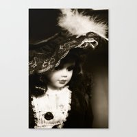 doll Canvas Prints featuring Doll by J.Telle