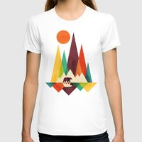 T-shirts featuring Bear In Whimsical Wild by Picomodi
