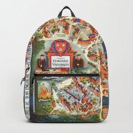 HARVARD University map MASSACHUSETTS Backpack